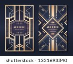 art deco banners. 1920s party... | Shutterstock .eps vector #1321693340