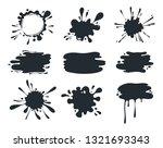 black paint blob. brush pen...   Shutterstock .eps vector #1321693343