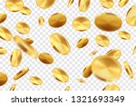 golden coins transparent... | Shutterstock .eps vector #1321693349