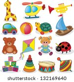 baby's toys set. vector...   Shutterstock .eps vector #132169640