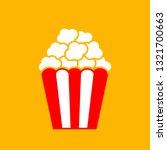 popcorn box vector icon on... | Shutterstock .eps vector #1321700663
