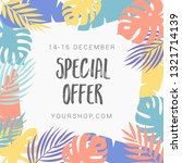 summer sale banner with exotic... | Shutterstock .eps vector #1321714139