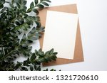 mockup card with plants.... | Shutterstock . vector #1321720610