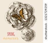 rose flowers seen from above... | Shutterstock .eps vector #1321729259