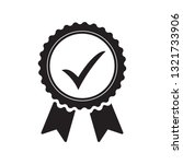 quality check ribbon icon.... | Shutterstock .eps vector #1321733906