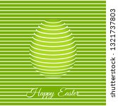trendy 3d easter greeting card... | Shutterstock .eps vector #1321737803
