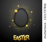 easter black background with... | Shutterstock .eps vector #1321737806