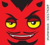 Cartoon Expression Satan