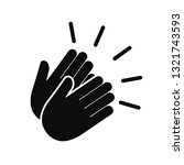 applause icon  clapping hands ... | Shutterstock .eps vector #1321743593