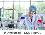 a male scientist testing his... | Shutterstock . vector #1321748930