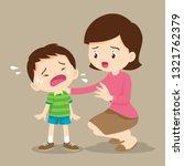 sad children wants to embrace... | Shutterstock .eps vector #1321762379