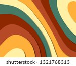 3d abstract paper art style ... | Shutterstock . vector #1321768313