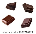 close up of chocolate pieces... | Shutterstock . vector #1321778129