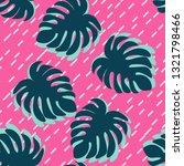 monstera leaves tropical... | Shutterstock .eps vector #1321798466