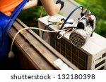 air conditioning master... | Shutterstock . vector #132180398