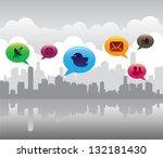 social media concept | Shutterstock .eps vector #132181430