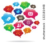 social media concept | Shutterstock .eps vector #132181448