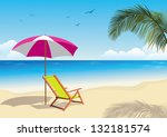 tropical beach | Shutterstock .eps vector #132181574