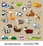 vector illustration of cute big ... | Shutterstock .eps vector #132181790