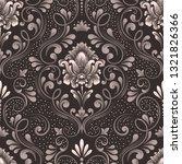 vector damask seamless pattern... | Shutterstock .eps vector #1321826366