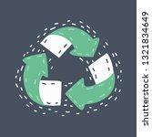 vector cartoon illustration of... | Shutterstock .eps vector #1321834649