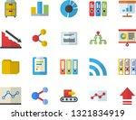 color flat icon set conveyor...   Shutterstock .eps vector #1321834919