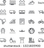 thin line icon set   airport... | Shutterstock .eps vector #1321835900