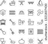 thin line icon set   job vector ... | Shutterstock .eps vector #1321837430