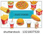 isometric fast food concept...   Shutterstock .eps vector #1321837520