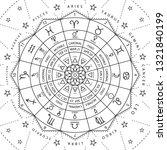 zodiacal circle for studing... | Shutterstock .eps vector #1321840199