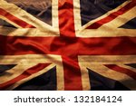 Closeup Of Grunge Union Jack...