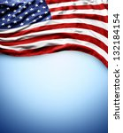 closeup of american flag on... | Shutterstock . vector #132184154