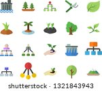 color flat icon set tree flat...   Shutterstock .eps vector #1321843943