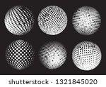 grunge halftone sphere.dotted... | Shutterstock .eps vector #1321845020