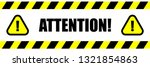 attention triangle sign and... | Shutterstock .eps vector #1321854863