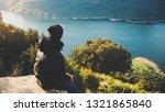 tourist traveler on background... | Shutterstock . vector #1321865840