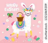 easter holiday greeting card... | Shutterstock .eps vector #1321869209