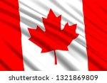 waving flag of canada. vector... | Shutterstock .eps vector #1321869809