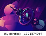 orbital station with space... | Shutterstock .eps vector #1321874069