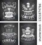 set of coffee quotes on the... | Shutterstock . vector #1321874786