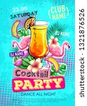 summer cocktail party disco... | Shutterstock .eps vector #1321876526