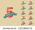 days left  countdown. vector... | Shutterstock .eps vector #1321886213