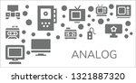 analog icon set. 11 filled... | Shutterstock .eps vector #1321887320