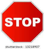 red gradient stop sign on white ... | Shutterstock . vector #13218907