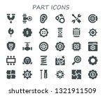 part icon set. 30 filled part... | Shutterstock .eps vector #1321911509