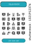 television icon set. 25 filled... | Shutterstock .eps vector #1321912376