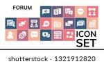 forum icon set. 19 filled forum ... | Shutterstock .eps vector #1321912820