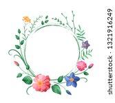 vector flower vignette | Shutterstock .eps vector #1321916249