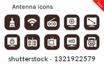 antenna icon set. 10 filled... | Shutterstock .eps vector #1321922579