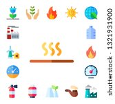 fuel icon set. 17 flat fuel... | Shutterstock .eps vector #1321931900